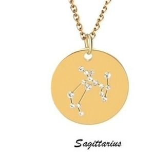 Constellation Zodiac Sign Necklace Sagittarius